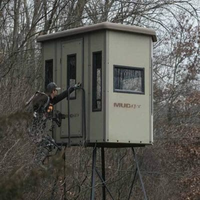 Muddy Penthouse Box Blind in the Woods